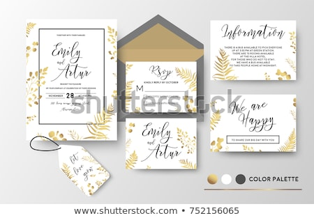 Elegância elegante convite cartão postal vetor realista Foto stock © pikepicture