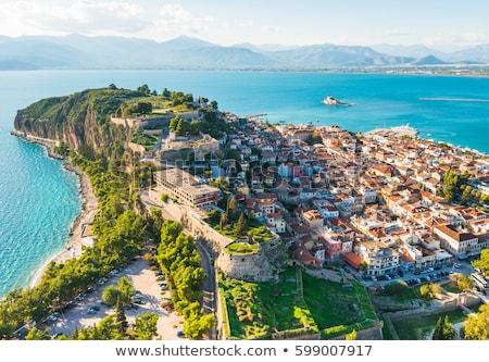 Grèce vue vieux ville château eau Photo stock © borisb17