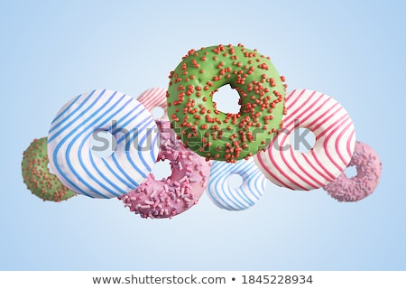 Stock fotó: Repülés · kék · egy · csokoládé · édes · fánk
