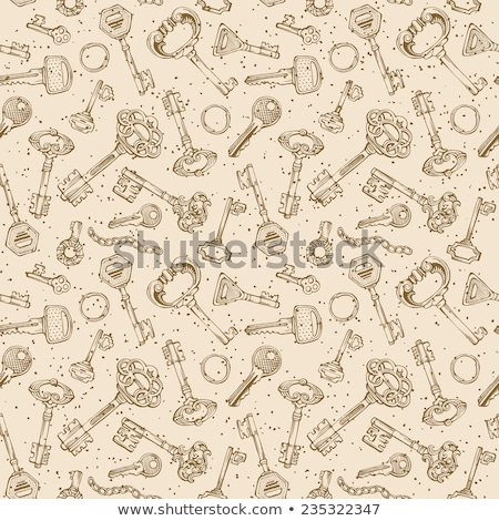 Ornamental medieval vintage keys pattern Stock photo © netkov1