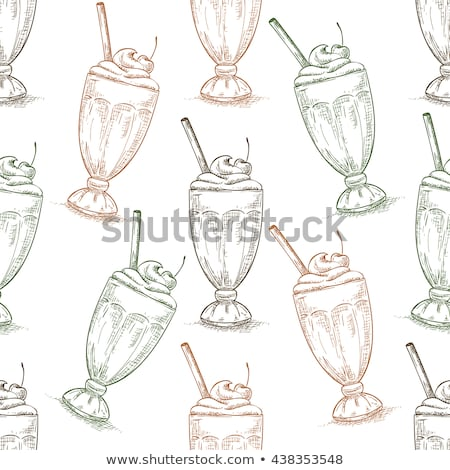Stockfoto: Kers · fast · food · drinken · cafe · restaurant