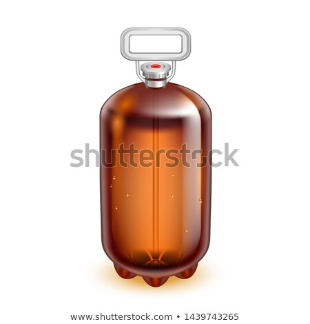 Classic Glass Keg Barrel Plastic Handle Vector Stock photo © pikepicture