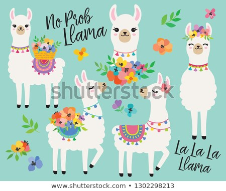 funny llama character cartoon illustration Stock photo © izakowski