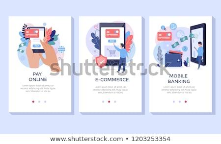 Hand betalen beveiligde betaling smartphone vrouw Stockfoto © ra2studio