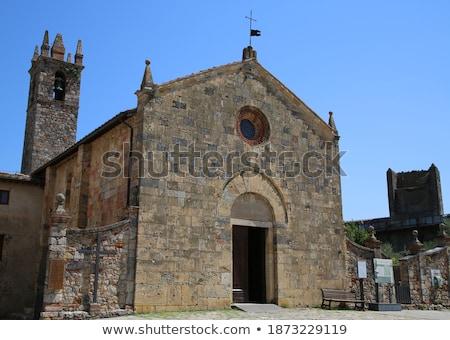church of Santa Maria, Monteriggioni, Italy Stock photo © borisb17
