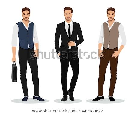 Vektor férfiak modellek férfi modell farmer Stock fotó © netkov1
