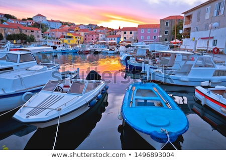 Aldeia ilha noite ver arquipélago Croácia Foto stock © xbrchx