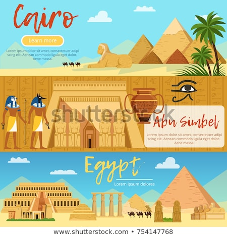 Horizontal banners set, Egypt landscape, tourism and vacation Stock photo © MarySan
