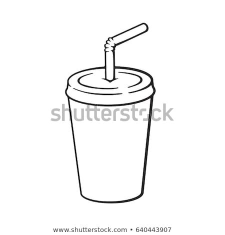 Mani bevande illustrazione plastica Cup Foto d'archivio © lenm