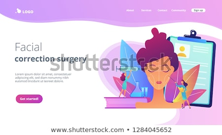 Aplicación interfaz plantilla cirujanos jeringa cirugía Foto stock © RAStudio