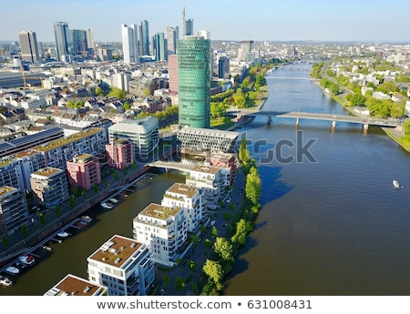 Industrial port in Frankfurt at the Main river Stock photo © manfredxy