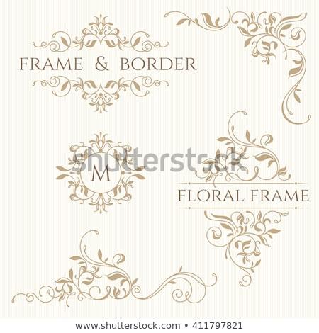 Sombre traditionnel floral ornement fleur texture Photo stock © AbsentA