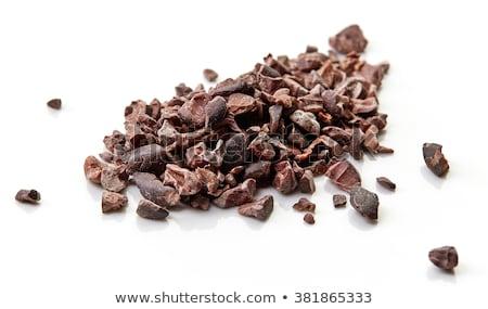 Tál kakaó bab fehér csokoládé eszik Stock fotó © joannawnuk