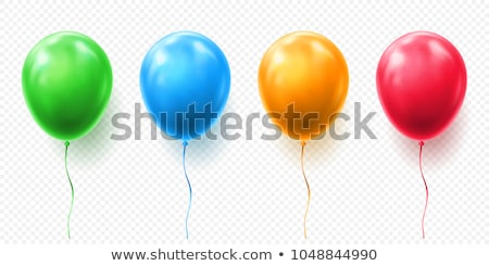 Ballon vert blanc noir haut amour Photo stock © nito