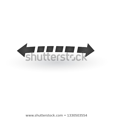Directional two opposite directions stretch Arrows icon with shadow. Back arrow is dashed. Shows shi Stock photo © kyryloff