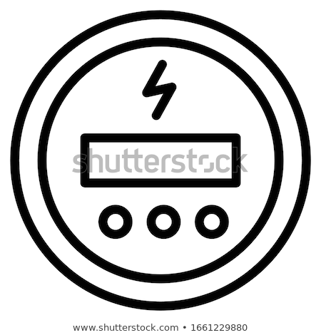 Electricity supply meter, electric meter icon, analog counter Stock photo © gomixer