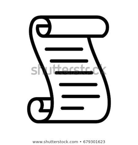 scroll of parchment paper icon vector outline illustration Stock photo © pikepicture