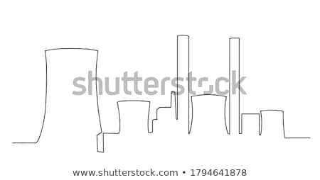 Torre nuclear usina ícone vetor Foto stock © pikepicture