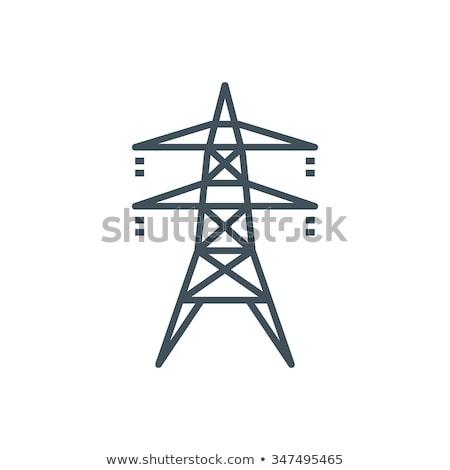 электроэнергии напряжение небе промышленности фермы Сток-фото © elxeneize
