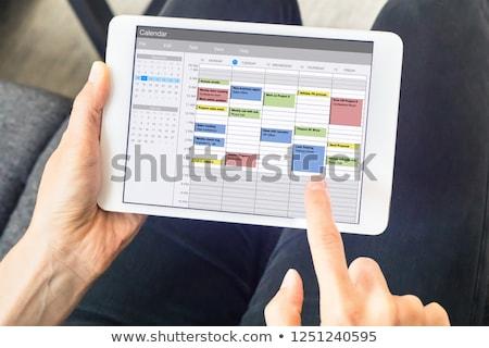 Kalendarza harmonogram organizator porządku przypadku planowania Zdjęcia stock © AndreyPopov
