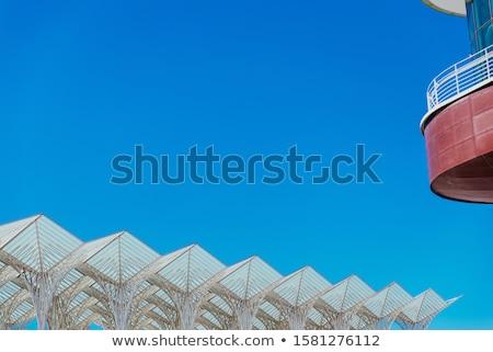 Station moderne architectuur treinstation Lissabon Portugal Stockfoto © ribeiroantonio