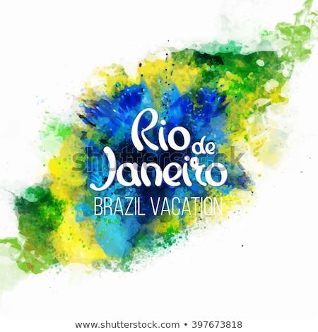 Рио-де-Жанейро · штампа · почты · нуля · Америки · открытки - Сток-фото © Myvector