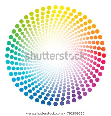 Absztrakt szivárvány koncentrikus spirál színes csíkos Stock fotó © marinini