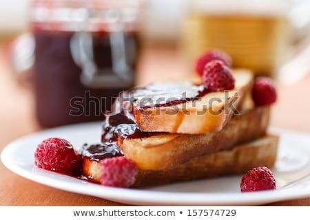Fransız tost taze pişmiş sıcak ekmek Stok fotoğraf © fotogal