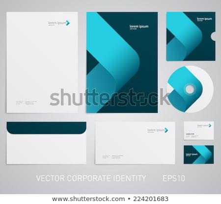 Abstrato corporativo folheto escritório globo Foto stock © pathakdesigner