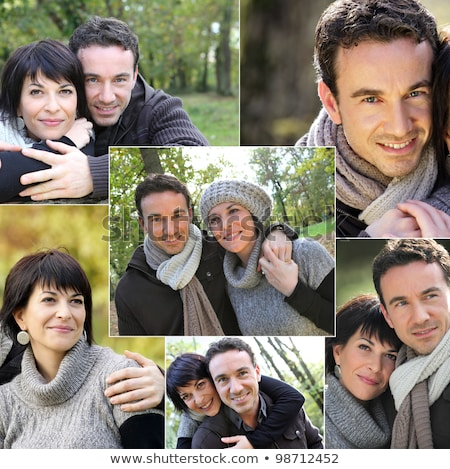 collage of portraits of a couple in the countryside stock photo © photography33