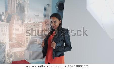 photographe · tir · modèle · studio · mode · fond - photo stock © lightpoet