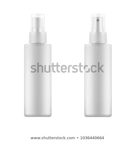 white spray bottle isolated on white stock photo © ozaiachin