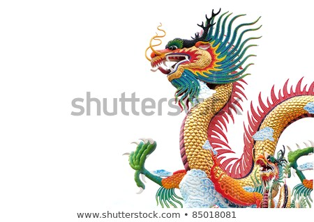 chinese style dragon statue isolate on white background from te stock photo © jakgree_inkliang