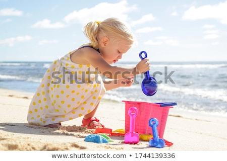 plaj · oyuncaklar · gökyüzü · arka · plan · kum - stok fotoğraf © taviphoto
