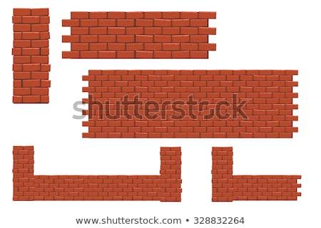 column of red blocks stock photo © timbrk