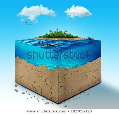 Earth cube Stock photo © Harlekino