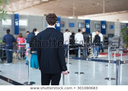 business man waiting in line stock photo © feedough