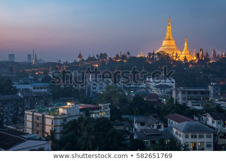 view of shwedagon paya temple in yangon rangoon myanmar burma bu Stock photo © travelphotography