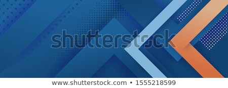 Abstract futuristic background with blue arrows. Vector illustra stock photo © prokhorov