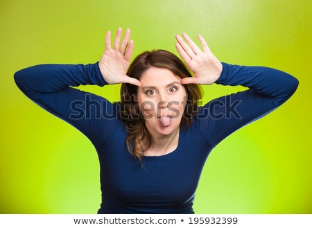Woman acting silly Stock photo © photography33