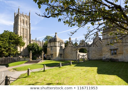 church and gateway in chipping campden stock photo © backyardproductions