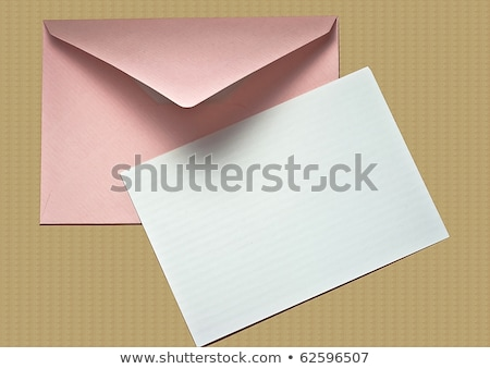 postal envelope on wood texture. With copy space Stock photo © inxti