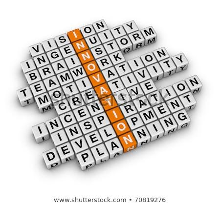 Innovation Concept Crosswords Stok fotoğraf © ALMAGAMI