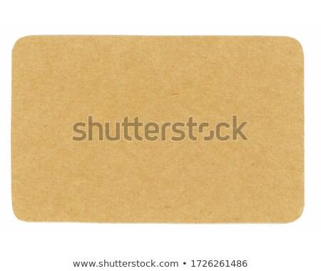 recycler · étiquette · isolé · blanche · papier · nature - photo stock © deyangeorgiev