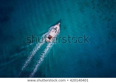 ストックフォト: ボート · 空 · 青 · 紫色 · ビジネス · 男
