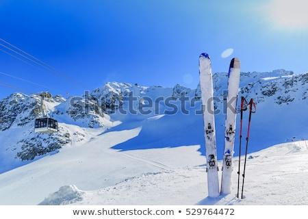 Kayak bakıyor alpler yüksek güney İsviçre Stok fotoğraf © iTobi