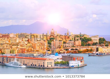 Genova and the port at evening Stock photo © Antonio-S