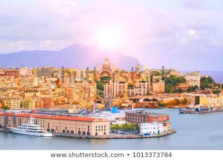 genova and the port at evening stock photo © antonio-s