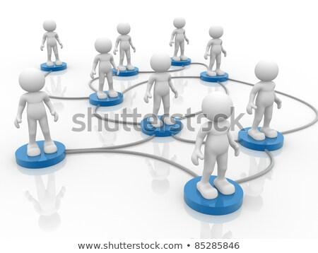 3d · pessoas · negócio · com · branco · mundo · empresário - foto stock © Quka