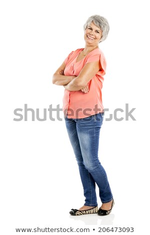 Sixties styled woman on white background stock photo © wavebreak_media